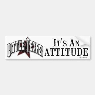 """""""It's An Attitude"""" Bumper Sticker"""