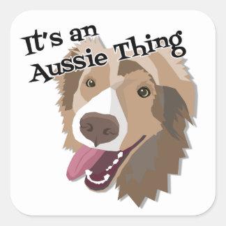It's an Aussie Thing Square Sticker