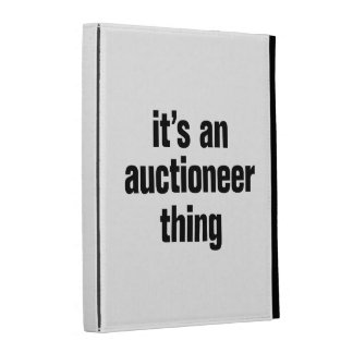 its an author thing iPad folio cover