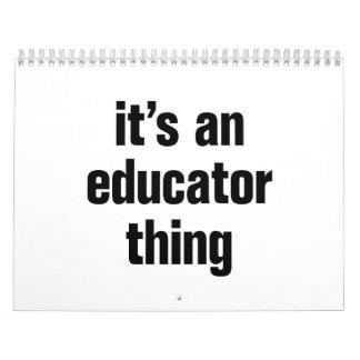 its an educator thing calendar