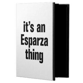 its an esparza thing iPad air case