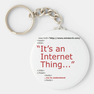 It's An Internet Thing Basic Round Button Keychain