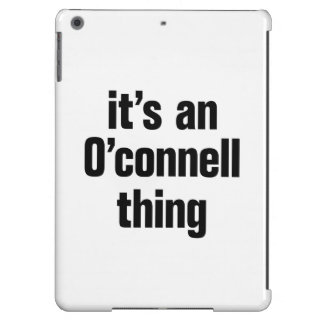 its an o connell thing cover for iPad air