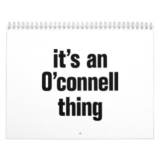 its an o connell thing calendar