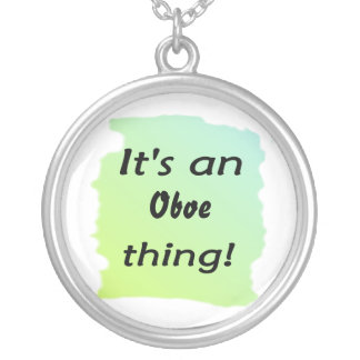 It's an oboe thing! silver plated necklace