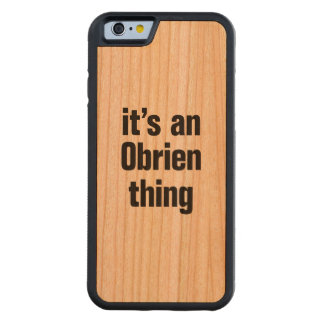 its an obrien thing carved® cherry iPhone 6 bumper case