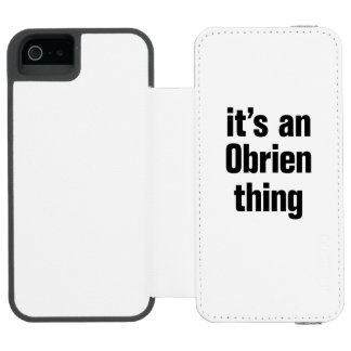 its an obrien thing incipio watson™ iPhone 5 wallet case
