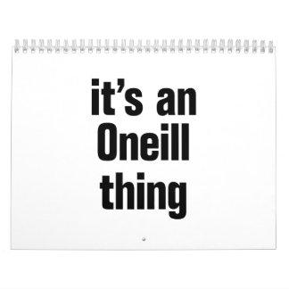 its an oneil thing calendar