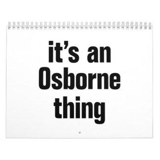 its an osborne thing calendar