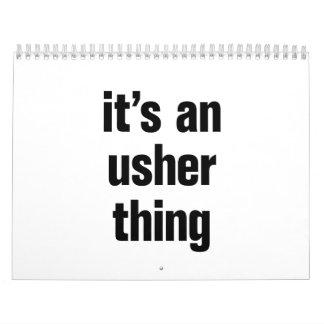 its an usher thing calendar