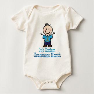 Its Autism Awareness Month Stick Figure Baby Bodysuit