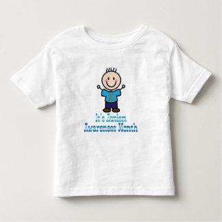 Its Autism Awareness Month Stick Figure Toddler T-shirt