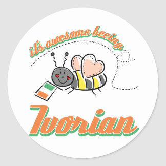 It's awesome beeing Ivorian Classic Round Sticker