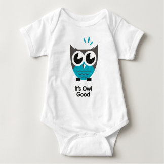 its awl good. Funny owl image. Baby Bodysuit