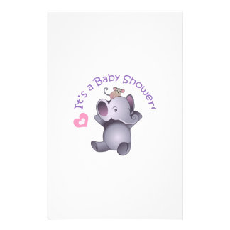 Its Baby Shower Stationery Paper