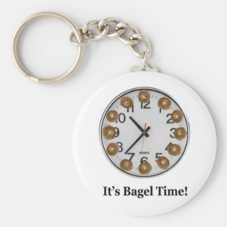 It's Bagel Time! Basic Round Button Keychain