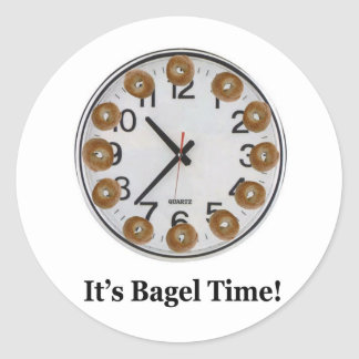 It's Bagel Time! Classic Round Sticker