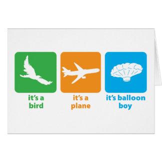 It's Balloon Boy! Card