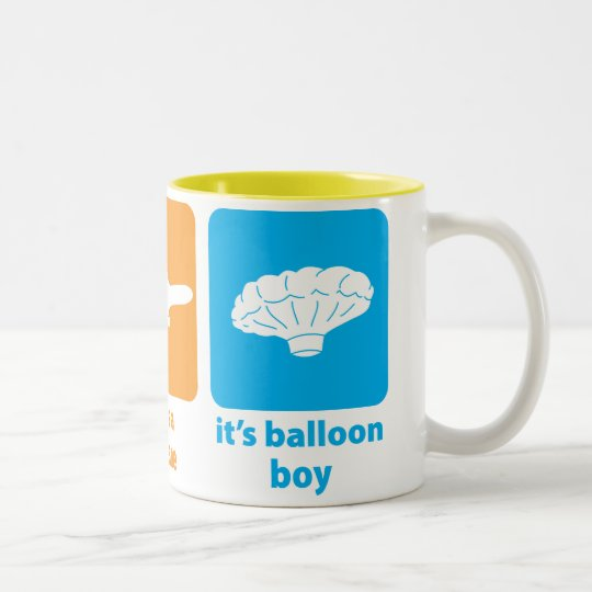 It's Balloon Boy! Two-Tone Coffee Mug