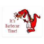 It's Barbecue Time Dragon Postcard