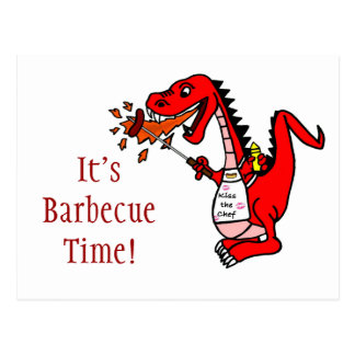 It's Barbecue Time Dragon Postcards