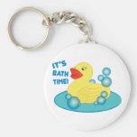 Its Bath Time Key Chain