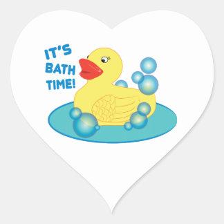 Its Bath Time Heart Sticker
