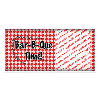 It's BBQ Time! Red Checkered Table Cloth w/Ants Card