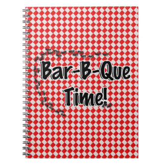 It's BBQ Time! Red Checkered Table Cloth w/Ants Spiral Note Books