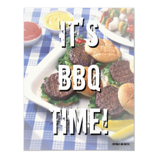 It's BBQ Time, Summer Barbecue Card