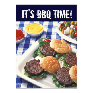 It's BBQ Time, Summer Barbecue Cookout Card