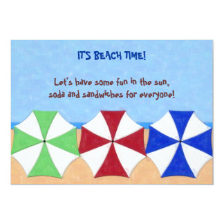 IT'S BEACH TIME party invitation