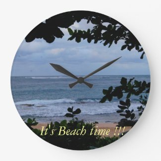 It's beach time wall clock