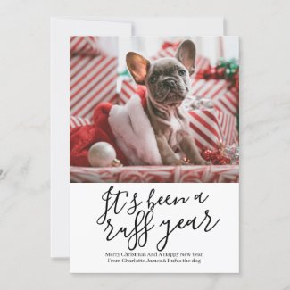 It's Been a Ruff Year Dog Personalized Christmas Holiday Card