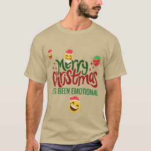 Its Been Emotional Merry Christmas Funny Emoji T-Shirt