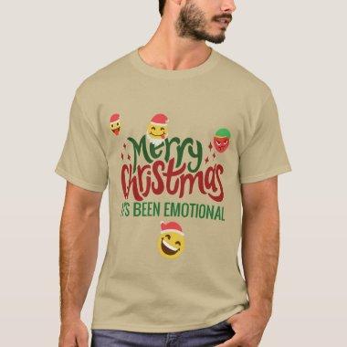 Its Been Emotional Merry Christmas Funny Emoji T-Shirt