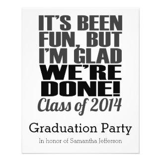 It's Been Fun, Class of 2014 Graduation Seniors Flyer