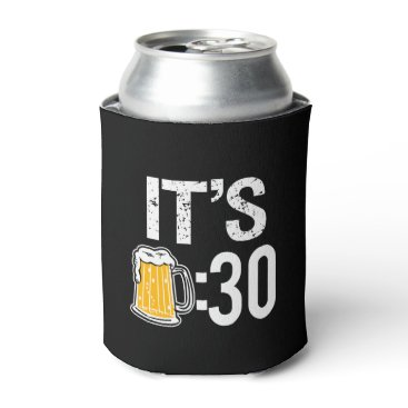 Beach Themed It's Beer 30 funny beer can cooler sleeve