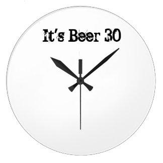 It's Beer 30 Large Clock