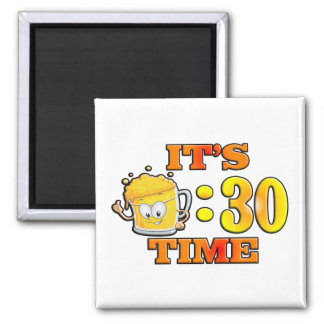 It's Beer:30 Time 2 Inch Square Magnet
