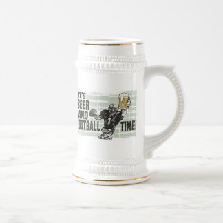 It's Beer & Football Time T-shirts and Gifts Beer Stein