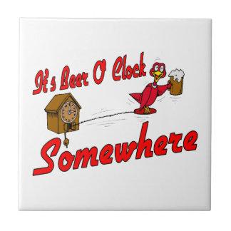 It's Beer O Clock Somewhere Tile