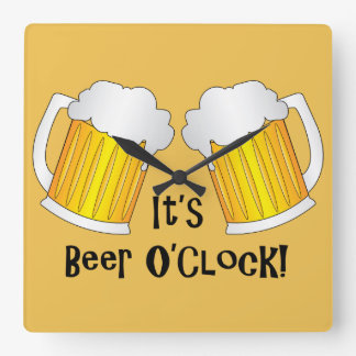 Its Beer O'Clock Time Funny Wall Clock