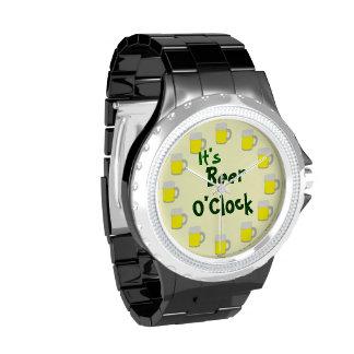 It's Beer O'Clock Wristwatch
