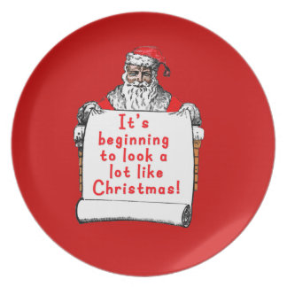 It's Beginning to Look a lot like Christmas Party Plates