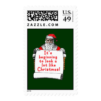 It's Beginning to Look a lot like Christmas Postage Stamp