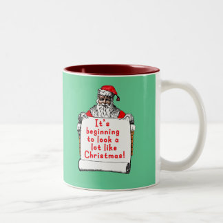 It's Beginning to Look a lot like Christmas Two-Tone Coffee Mug