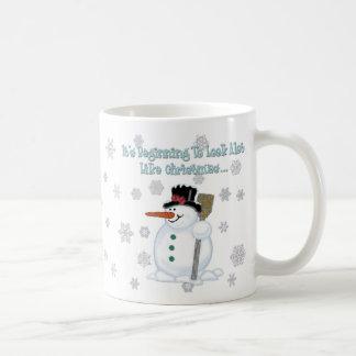 It's Beginning To Look Like Christmas Snowman Mug