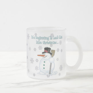 It's Beginning To Look Snowman Frosted 10 oz Mug