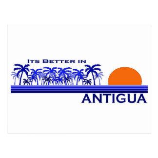 It's Better in Antigua Postcard
